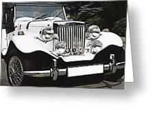 Mg Classic Car Greeting Card