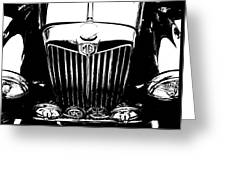 Mg Grill Black And White Greeting Card