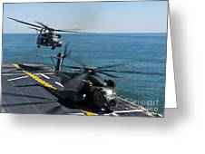 Mh-53e Sea Dragon Helicopters Take Greeting Card