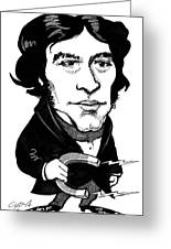 Michael Faraday, Caricature Greeting Card by Gary Brown