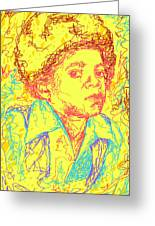 Michael Jackson Abstraction Greeting Card