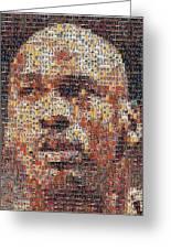 Michael Jordan Card Mosaic 3 Greeting Card by Paul Van Scott
