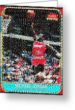 Michael Jordan Rookie Mosaic Greeting Card