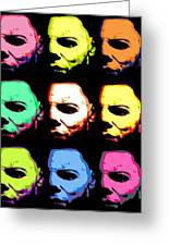 Michael Myers Mask Pop Art Greeting Card