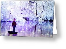 Michale Poppins Winter Adventure Greeting Card by Michael Taggart