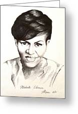 Michelle Obama Greeting Card by A Karron