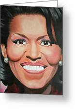 Michelle Obama Greeting Card by Timothe Winstead