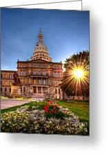 Michigan Capitol - Hdr - 2 Greeting Card