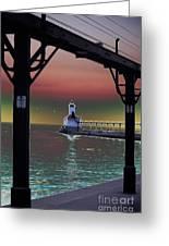 Michigan City Lighthouse 2 Greeting Card