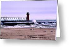 Michigan City Lighthouse Indiana Greeting Card