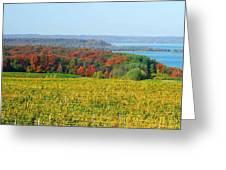 Michigan Winery Views Greeting Card