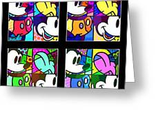 Mickey In Colors Greeting Card