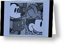Mickey In Cyan Greeting Card