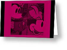 Mickey In Hot Pink Greeting Card