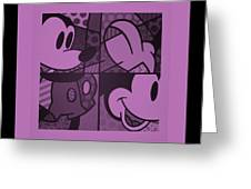 Mickey In Light Pink Greeting Card