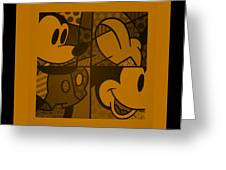 Mickey In Orange Greeting Card
