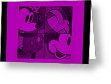 Mickey In Purple Greeting Card