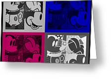 Mickey In Quad Colors Greeting Card