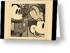 Mickey In Sepia Greeting Card