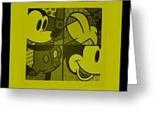 Mickey In Yellow Greeting Card