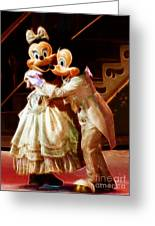 Micky And Minnie Mouse Skate Greeting Card