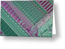 Micrograph Of Chip Greeting Card