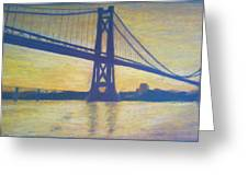 Mid-hudson Bridge Sunrise Greeting Card