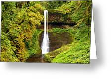 Middle North Falls Greeting Card