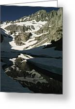 Middle Palisade Peak Reflects In Finger Greeting Card