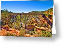 Midgley Bridge Sedona Arizona Greeting Card