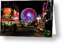 Midnight At The Fair Greeting Card