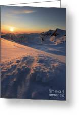 Midnight Sun Above Lilletinden Greeting Card
