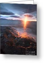 Midnight Sun Over Vågsfjorden Greeting Card