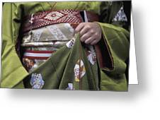 Midsection Of Apprentice Geisha - Maiko Greeting Card