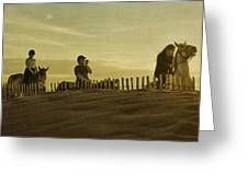 Midsummer Evening Horse Ride Greeting Card by Paul Grand