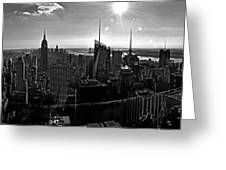 Midtown South Bw Greeting Card