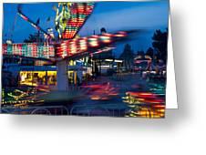 Midway Blur Greeting Card