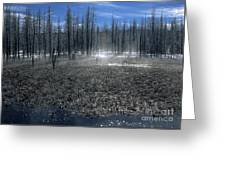 Midway Geyser Area Greeting Card