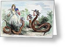 Midwest Copperheads, 1863 Greeting Card
