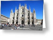 Milan Duomo Cathedral Greeting Card