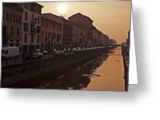 Milan Naviglio Grande Greeting Card