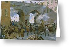 Milanese Chasing Out Austrians Greeting Card
