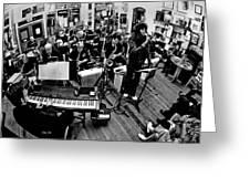 Mile High Jazz Band Comma Coffee Carson City Nevada Greeting Card