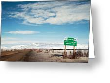 Milepost At The Dempster Highway Greeting Card
