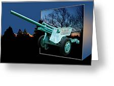 Military Artillery Piece Greeting Card