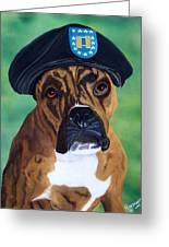 Military Boxer Greeting Card