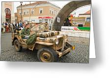 Military Old Car Greeting Card