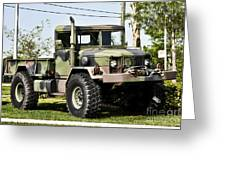 Military Truck Greeting Card