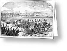 Militia Review, 1859 Greeting Card