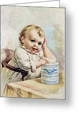 Milk Trade Card, 1893 Greeting Card